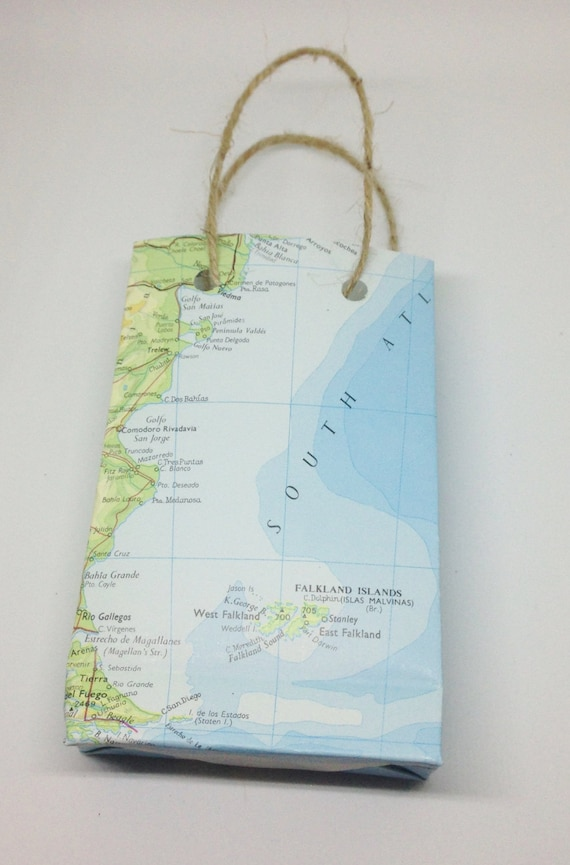 World map paper gift bag small bon voyage presentation bag world map paper gift bag small bon voyage presentation bag atlas wedding favour favors from theprocraftinator on etsy studio gumiabroncs Images