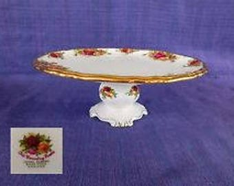 Footed Cake Plate in Old Country Roses by Royal Albert