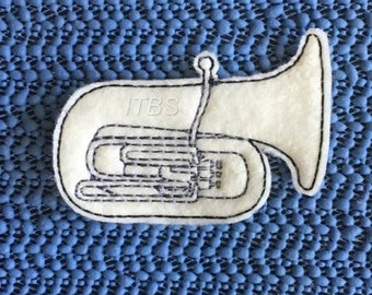 Baritone horn set of 3 key fob charm and feltie