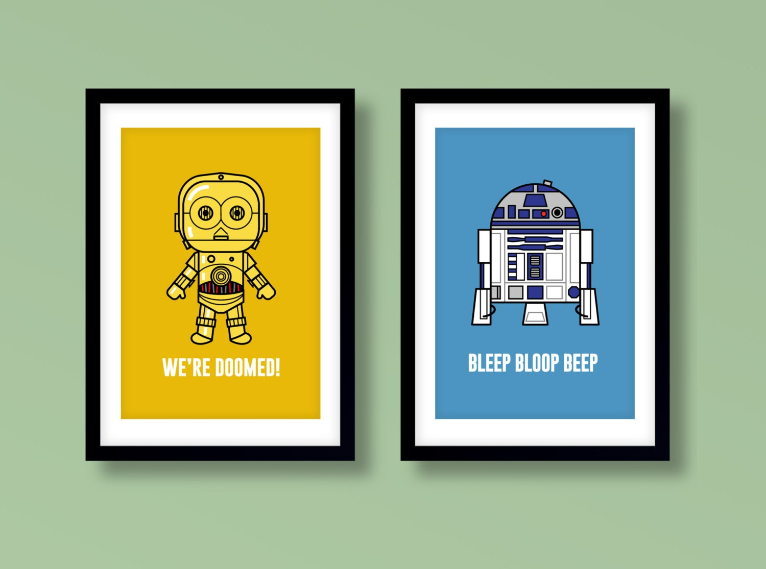 Star Wars inspired wall art kids wall art Star Wars R2-D2
