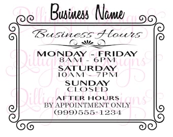 store hours sign printable business hours sign green office hours