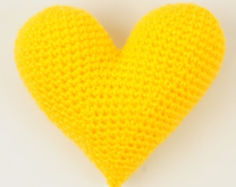 Crochet Hearts - Crochet Heart Pattern - Amigurumi Heart Pattern - PDF Download