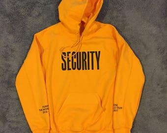 Bieber 2017 SECURITY Purpose Tour Hoodie - Golden Yellow