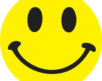 Yellow Smiley Face vinyl Sticker