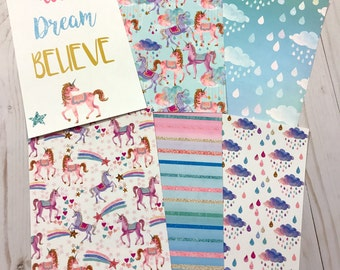 Planner Dividers - A5 Planners Dividers - Personal Planner Dividers - Planner Inserts - A5 Planner - Personal Planner - Unicorn Dividers