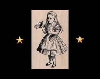 ALICE IN WONDERLAND Rubber Stamp, Alice In Wonderland Gifts, Drink Me Rubber Stamp, Alice, Drink Me, Alice Stamp, Alice Gift, Alice Party