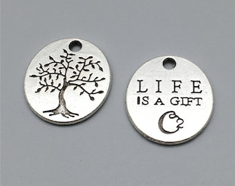 30pcs  Antique Silver Tree Of Life Charms, Tree Of Life Pendants , Tree of life Necklace