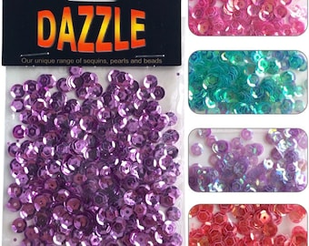 Dazzle Cupped Sequins 6mm - 260pcs