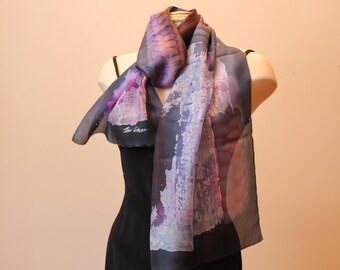 """Batik scarf 15""""x70"""""""