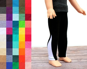 Fits like Wellie Wishers Doll Clothes - Exercise Leggings, You Choose Colors   14.5 Inch Doll Clothes
