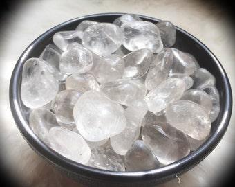 Tumbled Quartz Crystal Stone