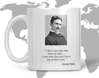11oz Nikola Tesla - Famous Scientist Ceramic Coffee or Tea Mug