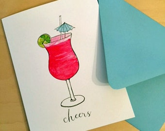 Cheers - dacquiri - cocktail greeting card