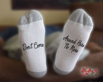 Tom Petty Socks, Don't Come Around Here No More, Sock Gift, Gift For Her, Gift For Him