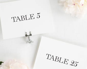 Madison Table Numbers - 5x7""