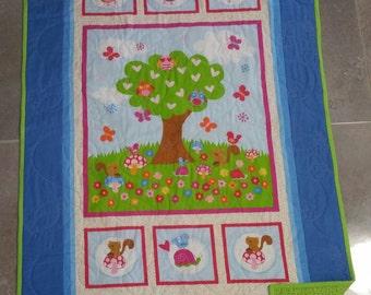 Baby Owl Quilt, Baby Quilt, Children's Quilt, Animal Quilt, Owl Quilt