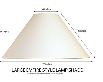 Linen lamp shade etsy empire lamp shade coolie lamp shade large lamp shade white fabric lamp shade aloadofball Choice Image