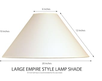 Amazing Empire Lamp Shade, Coolie Lamp Shade, Large Lamp Shade, White Fabric Lamp  Shade