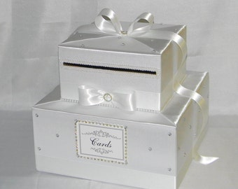 Elegant Custom made Wedding Card Box-lots of bling