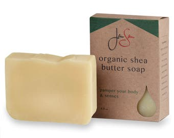 Citron Splash Natural Organic Shea Butter Soap Bar - Scented with Essential Oils