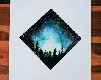 Night Sky Watercolor
