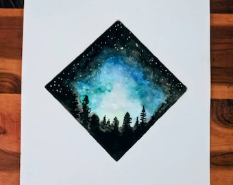 Night Sky Watercolor
