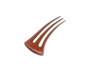 Wooden 3 Prong Hair Fork  Hair Accessories Unique Hair Sticks Jatobah Wood Pin Hair Stick Hair Fork For Women Hair Fork For Gift