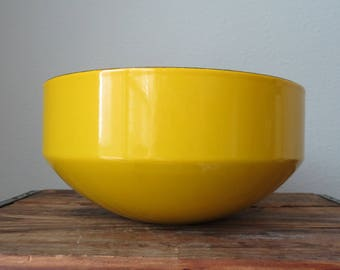 SALE - Yellow COPCO Enamel Bowl - Switzerland Michael Lax - Large - WAS 45