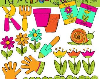 KPM Flower garden Digital Clip art COMBO