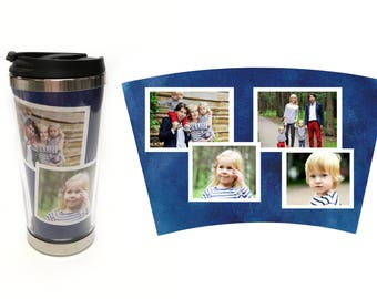 Coffee Tumbler Photo Gift | Travel Mug | Personalized Coffee Tumbler | Coffee Mug | Photo Tumbler | Gifts for Him Gifts for Her | Photo Mug