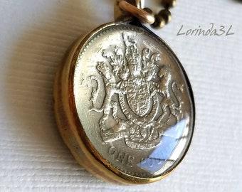 BritishOne Pound Coin Pendant