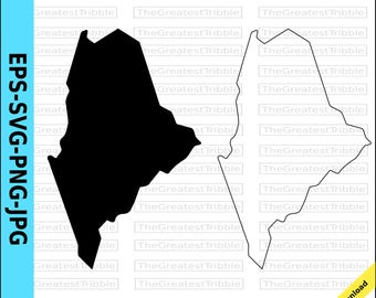 Maine State Map eps svg png jpg Vector Graphic Clip Art