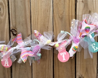 AGD Easter Decor - Lighted Ribbon Easter Garland