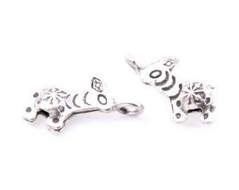 Thai Karen Hill Tribe Silver,Giraffe Shaped Karen Hill Tribe Handmade Charms,Charms,Karen Silver- KSC0096