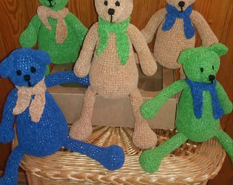 Handmade knitted Teddy bear