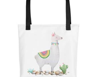Boho llama Tote bag, cute tote bag, cute bag, fashion bag, cool bag, printed bag, llama bag, llama print, boho bag, boho fashion, cute gifts