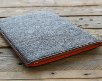 Amazon Fire Sleeve - Amazon Fire Case - Amazon Fire Cover - Mottled Dark Grey Outer and Various Inner Colours - 100% Wool Felt