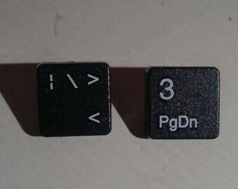Handmade Keyboard Key <3 Stud Earrings