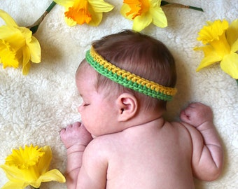 Simple Baby Crochet Headband / Infant Photo Prop / Gender Neutral Baby Gift / Thin Headband / Etsy Baby Headband / Best Baby Headband