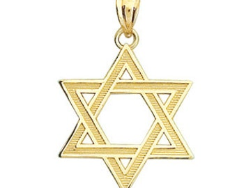 Gold star of david etsy star of david star of david pendant star of david jewelry gold pendant aloadofball Images