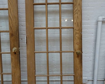 French doors etsy 31 78 x 83 antique french door beveled glass planetlyrics Gallery