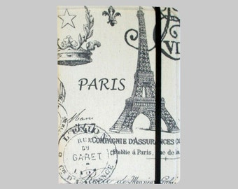 Kindle Cover Hardcover, Kindle Case, eReader, Kobo, Kindle Voyage, Kindle Fire HD 6 7, Kindle Paperwhite, Nook GlowLight Paris on Cream