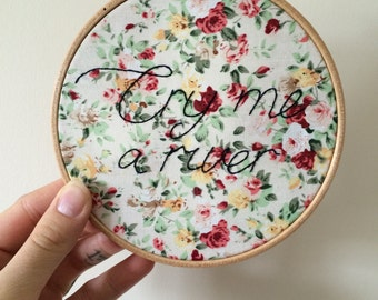 Cry Me A River embroidery