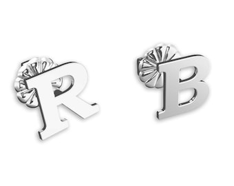 Letter earrings, stud earrings Personalized Earrings, silver earrings, monogram earrings