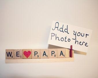 Love Papa, Papa Photo, Dad Photo Holder, Dad Frame, Love Dad, Dad Gift, Money Holder, Card Holder, Papa Gift, Photo Holder, Papa Frame, Pops