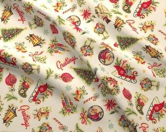 Stoff, RETRO, Weihnachten, 0,45 cm H x 110 cm breit