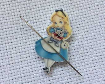 Alice In Wonderland Needle Minder, Alice Needle Minder, Alice in Wonderland, Sewing Accessory