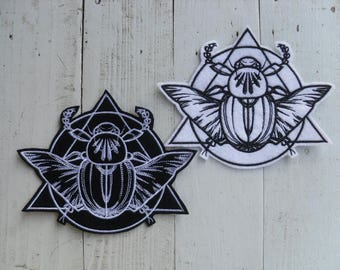 Scarab patches / Mystique - Scarab patch / iron on Patch Scarab