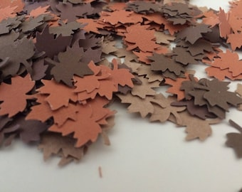 500 pcs MAPLE Leaf Confetti Autumn Leaf Cutouts Fall Wedding Reception Bridal Baby Shower Scrapbook Cardmaking Party Table Decoration