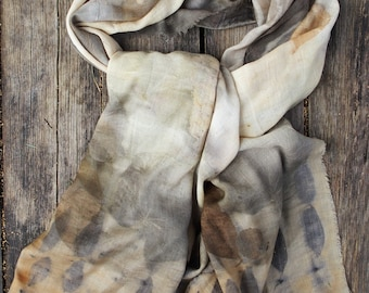 Eco dyed WOOL SCARF